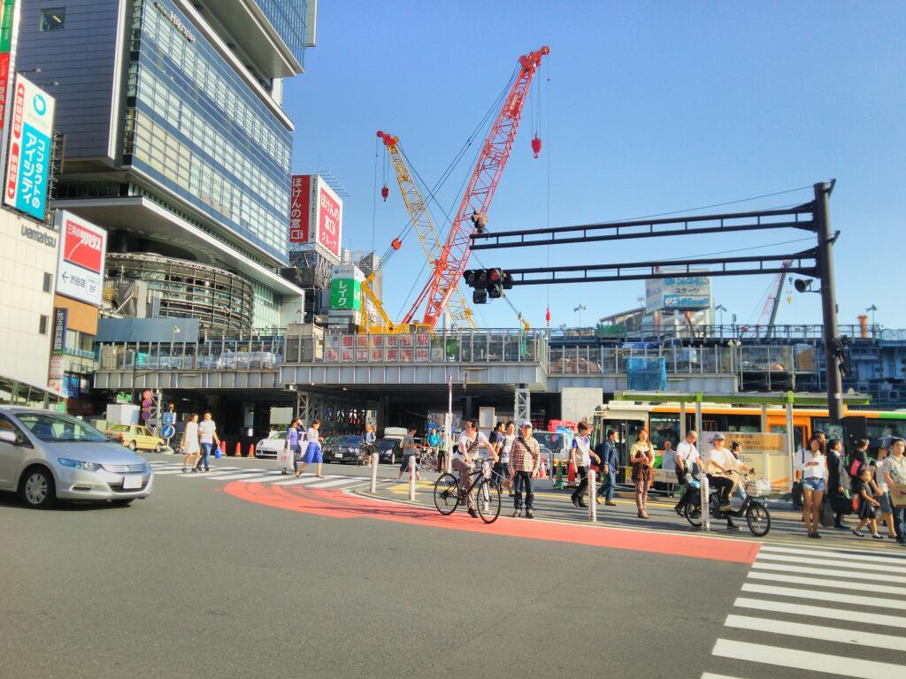 どんどん変わる渋谷駅