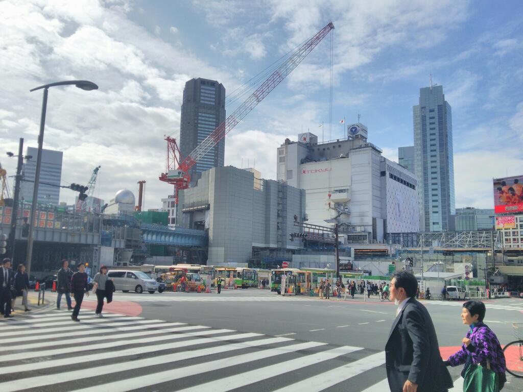 渋谷駅工事 201511月
