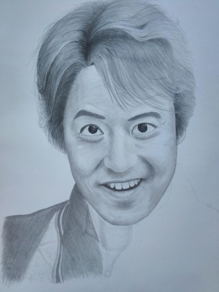 レナード衛藤さんを描く