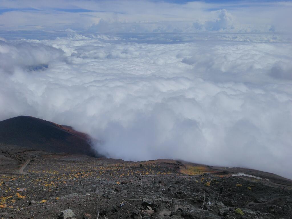 富士山のてっぺん