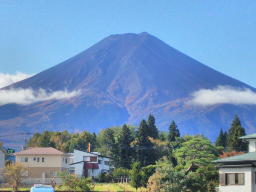富士山駅からの富士山