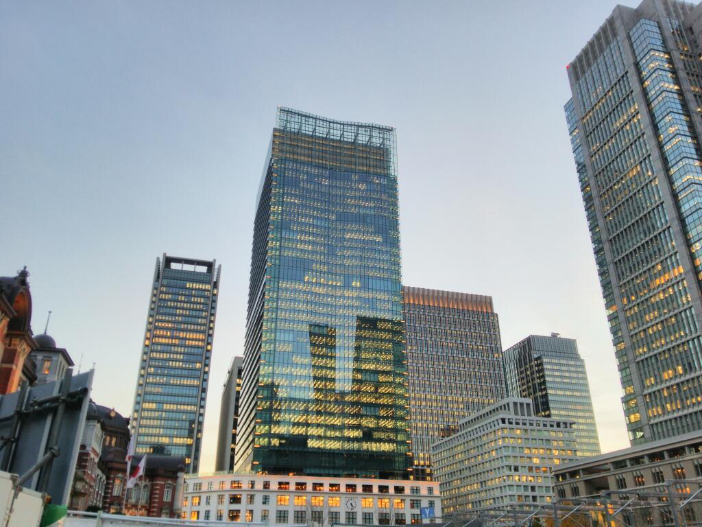 東京駅を見るなら、断然、夕方がお薦め