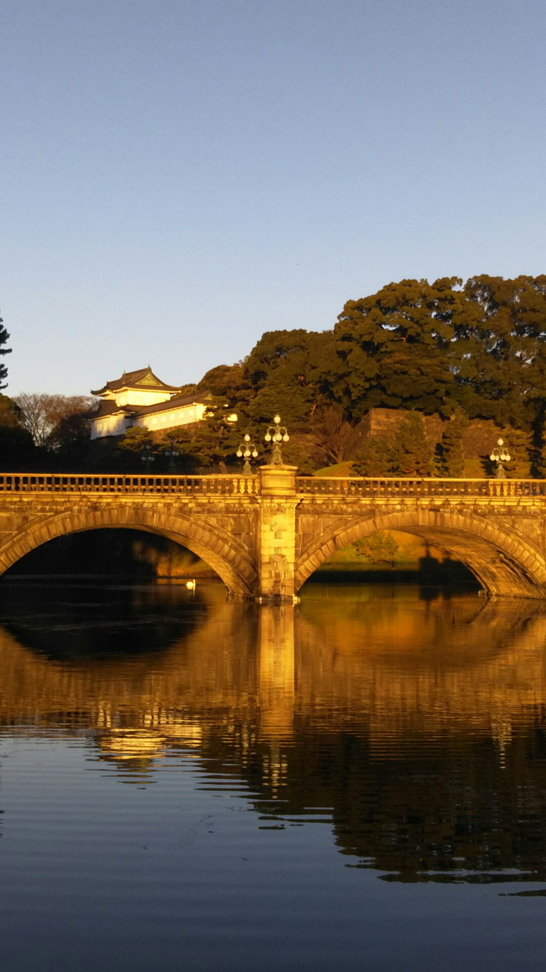 朝日の二重橋