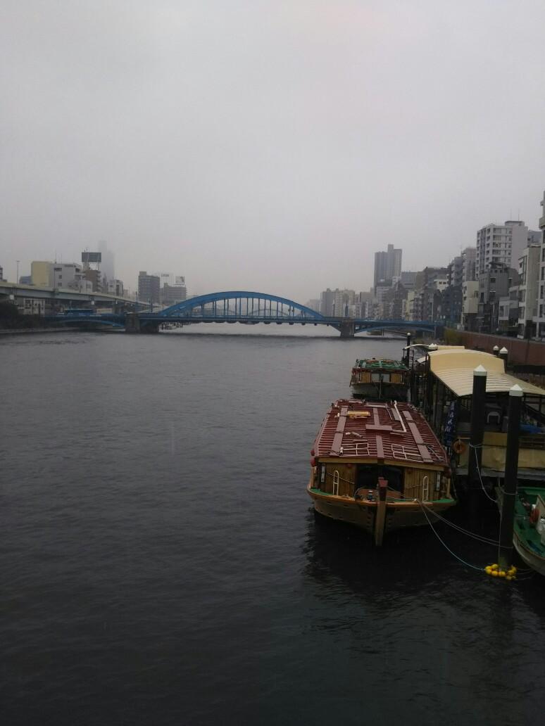 隅田川にも雪