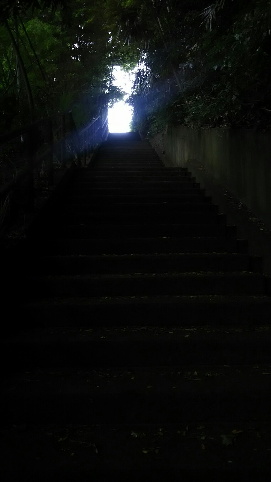 暗い坂道の向こう側