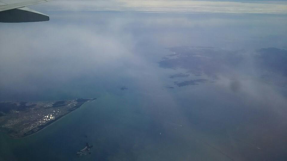 広島➡羽田便の風景