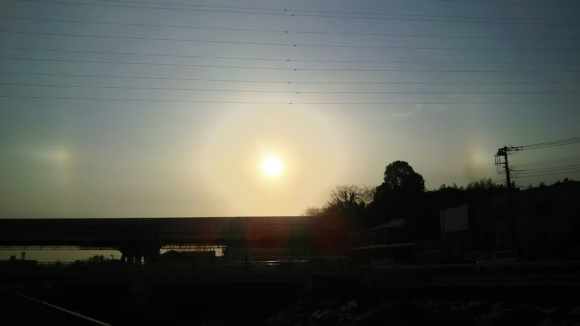 太陽が三つ。幻日