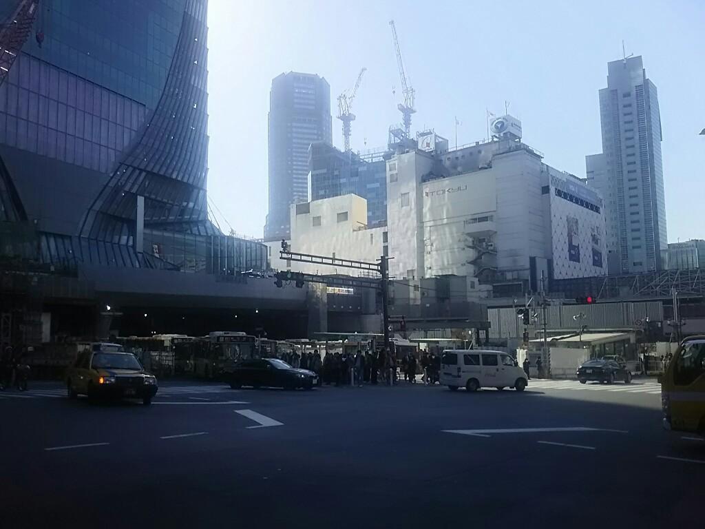 渋谷駅前工事の状況